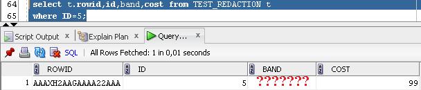 Oracle Data Redaction - zjištění hodnoty