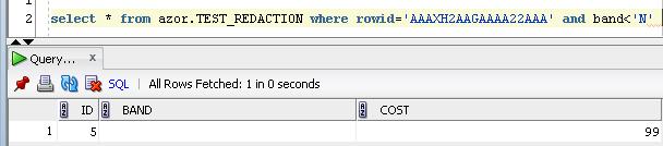 Oracle Data Redaction - získání hodnot I