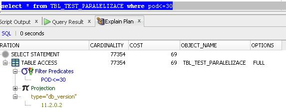 Select pro paralelizaci